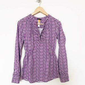 Lucy brand checked patterned blouse size XS
